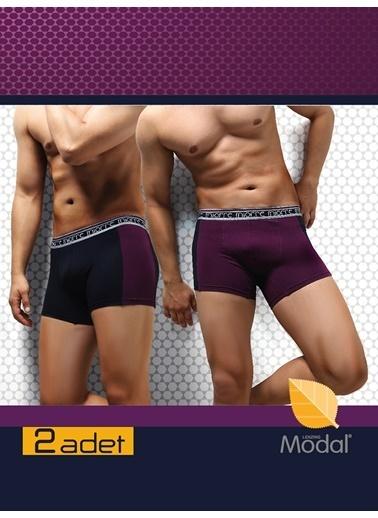 Miorre 2'li Paket Modal Erkek Boxer Lacivert